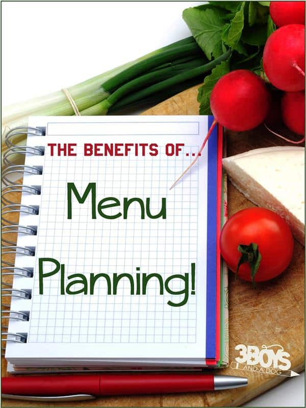 The benefits of menu planning