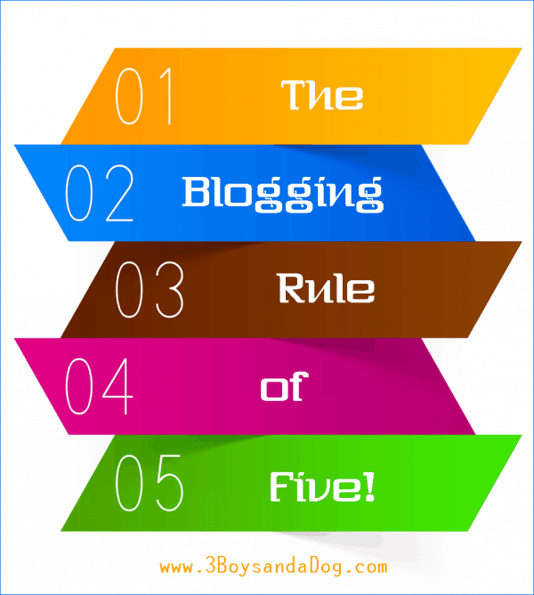 The Blogging Rule of Five