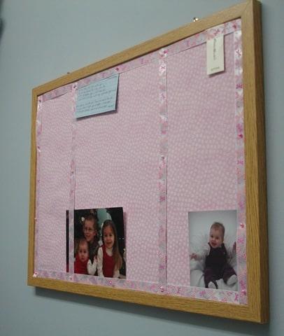 Bulletin Board in Laundry Room