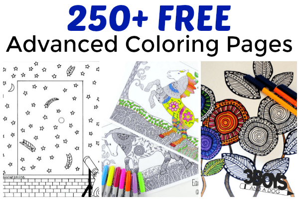 over 250 free advanced coloring pages - Advanced Coloring Pages