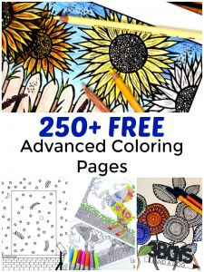 Over 250 Free Advanced Coloring Pages