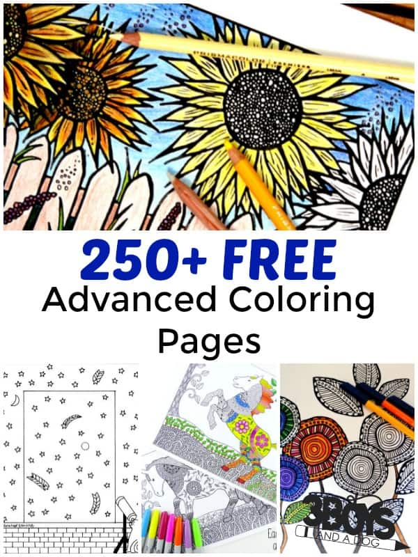 Over 250 Free Advanced Coloring Pages – 3 Boys and a Dog – 3 Boys ...