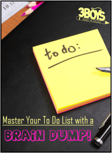 How to Organize a Master To Do List Using a Brain Dump