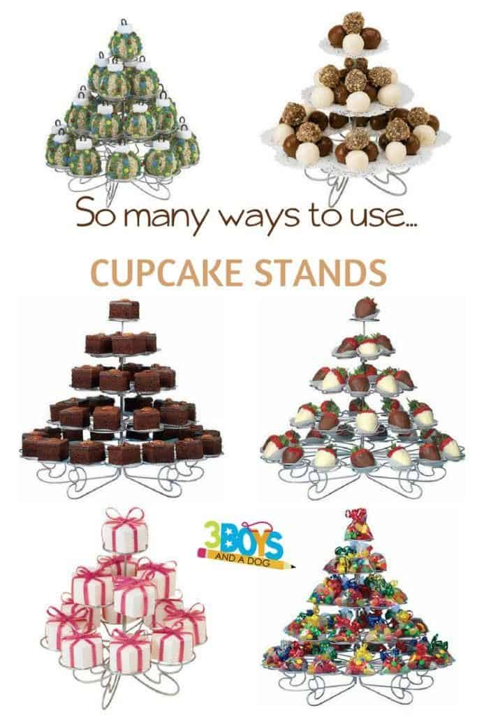So many ways to use a cupcake stand - besides just for cupcakes!