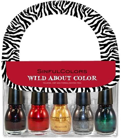 SINFUL COLORS HOLIDAY 2010 WILD ABOUT COLOR WITH BAG