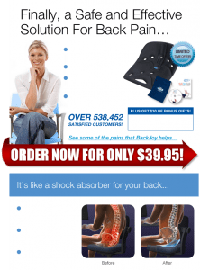 Review:  BackJoy  The Back Orthotic