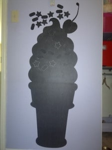 REVIEW: Ice Cream Cone Chalk Board Wall Decal by WallCandy Arts