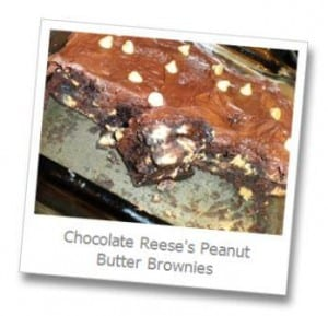 Chocolate Reeses Peanut Butter Brownies