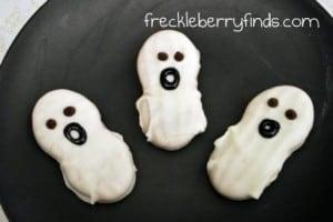 Halloween Recipe:  No Bake Ghost Cookies