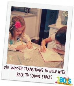 Use Smooth Transitions to help with Back To School Stress