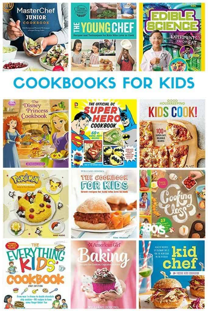 Kids Cookbooks (and cooking tools) at Amazon