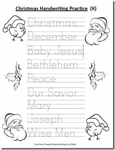 Worksheets Printable Christmas Worksheets For Kids free kindergarten christmas handwriting worksheet homeschooling click the picture above to download complete pdf file of this printable for kids