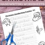 have some educational fun with your kids this Christmas with these kindergarten handwriting practice sheets