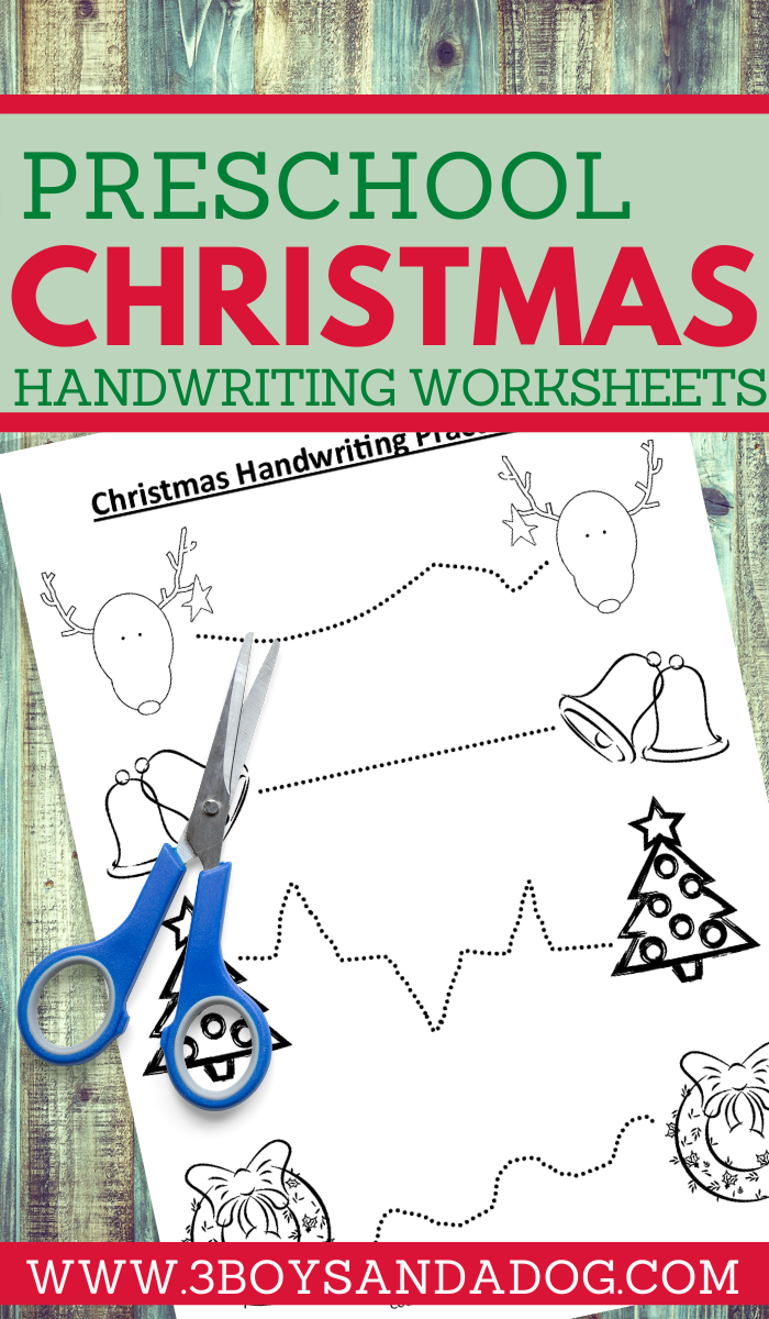 have some educational fun with your kids this Christmas with these handwriting practice sheets