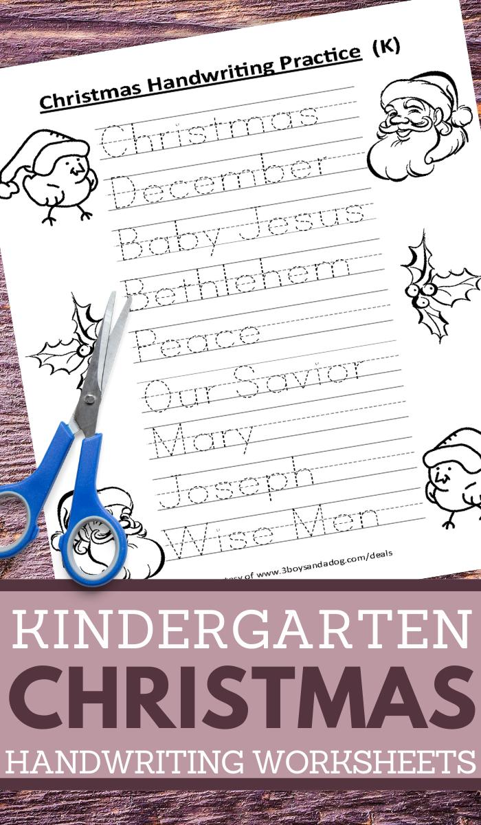 kindergarten handwriting printables