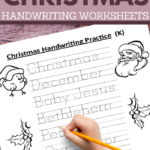 writing and coloring pages for kindergarteners
