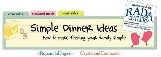 simple dinner banner.rada