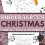 christmas handwriting practice pages for kindergarten