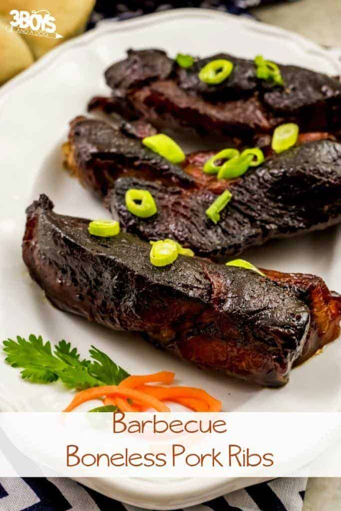 Oven Baked BBQ Boneless Pork Ribs