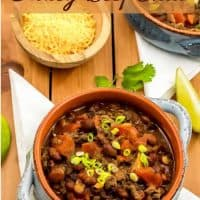 I adapted this chili recipe from a Pampered Chef recipe that I acquired at a party years ago!