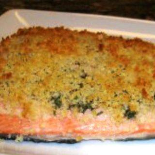 Breaded Salmon (Low Calorie) Recipe