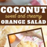 orange coconut salad