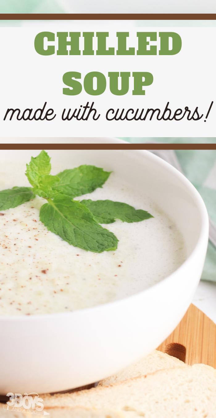 greek yogurt and english cucumbers make such a creamy soup rcipe