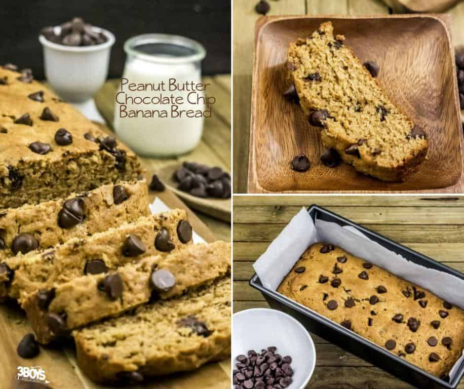 Easy Banana Bread with Chocolate Chips and Peanut Butter