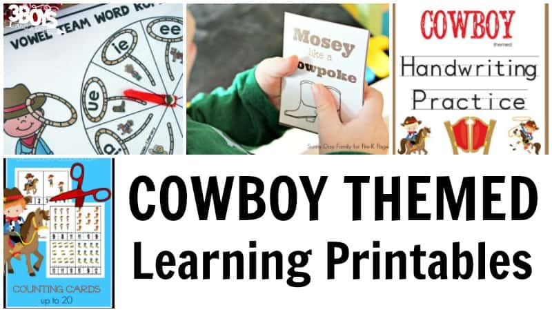 Cowboy Learning Printables