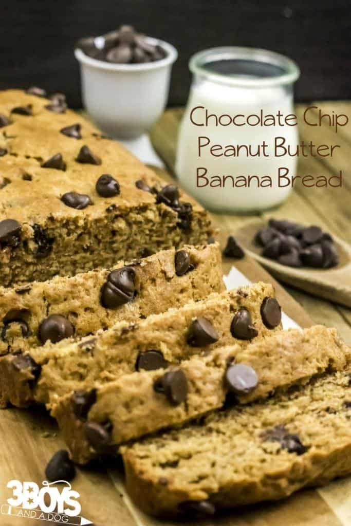 easy banana bread recipe with peanut butter and chocolate chips