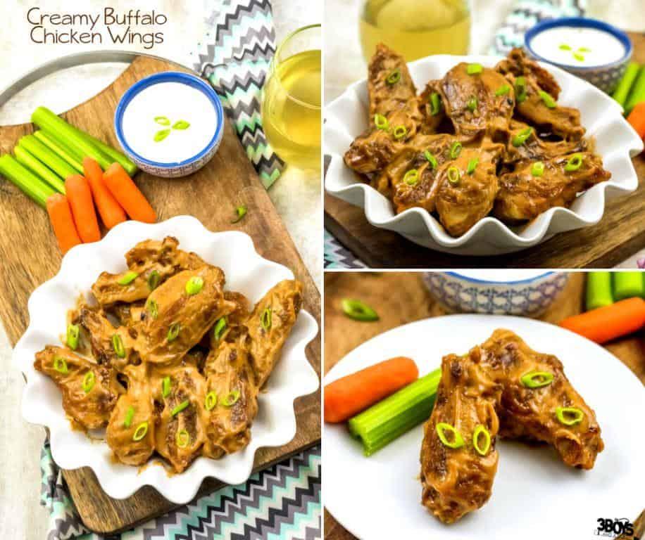 creamy buffalo chicken wings