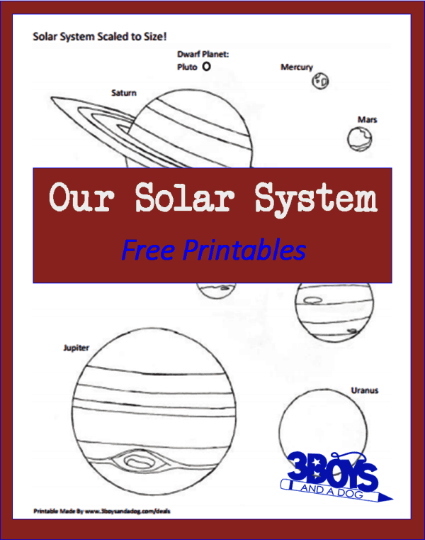 free printable solar system worksheets - photo #6