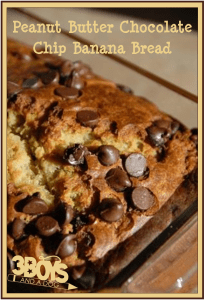 Peanut Butter Chocolate Chip Banana Bread Recipe