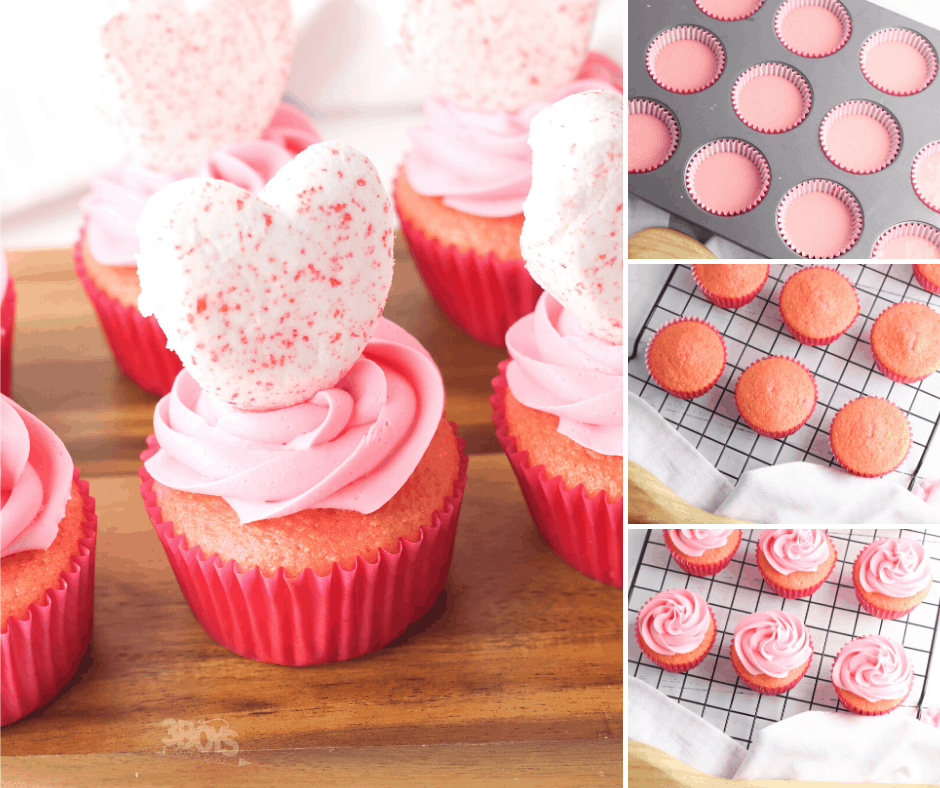 strawberry valentines cupcake recipe