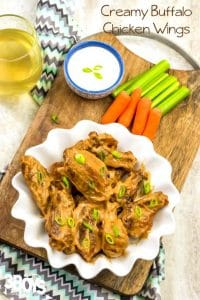 Creamy Buffalo Wings Recipe (Game Day Appetizers)
