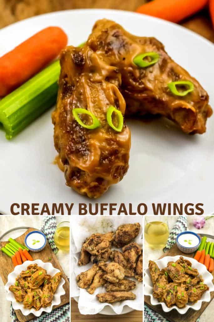 Tabasco buffalo and horseradish chicken wings