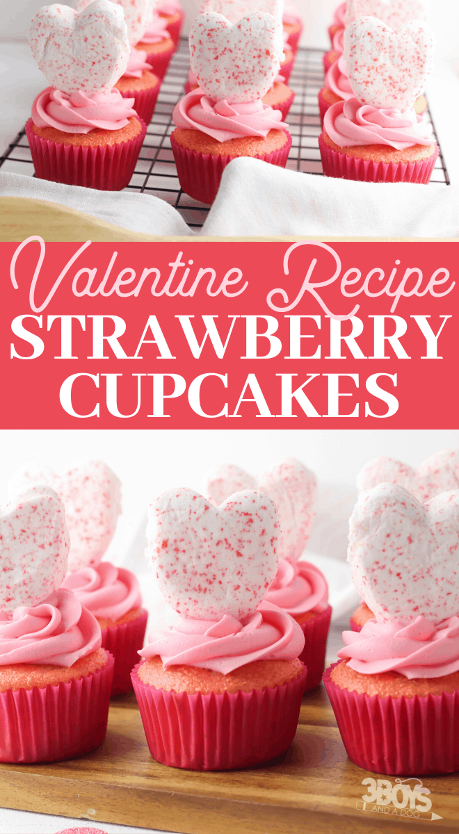 strawberry cake mix cupcakes