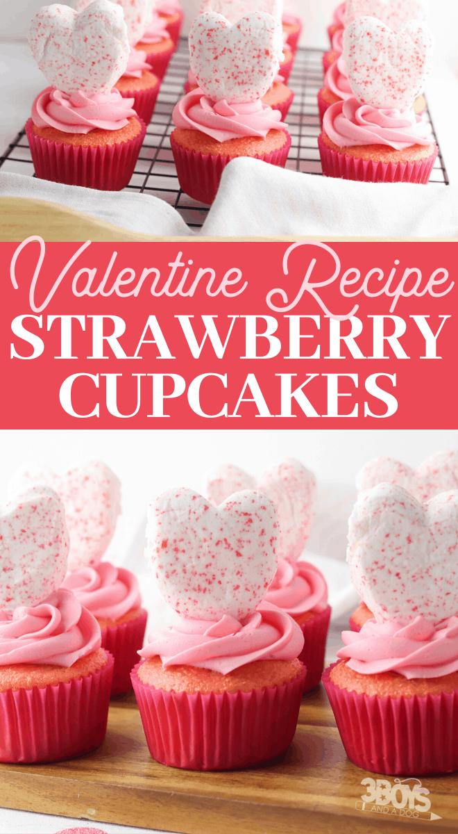 strawberry cake mix cupcakes