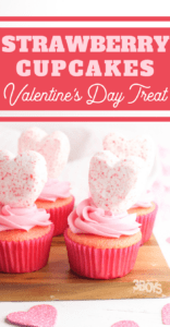 easy strawberry cupcakes made with Peeps hearts