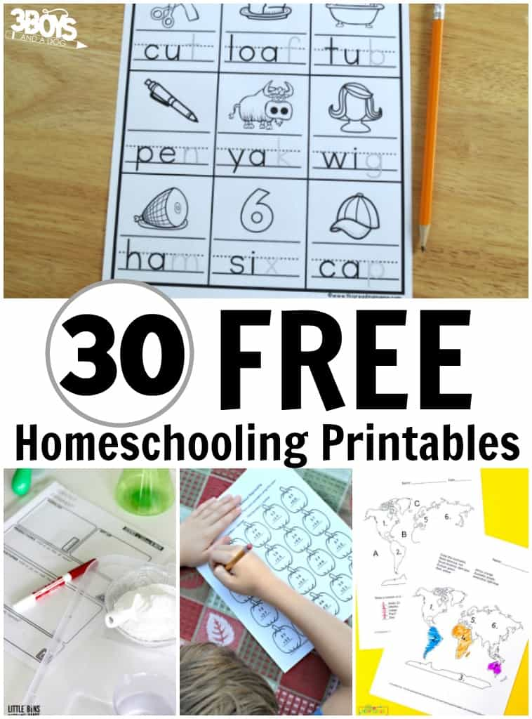 30 Homeschooling Freebies