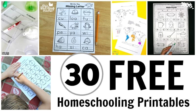 30 Printable Homeschool Freebies