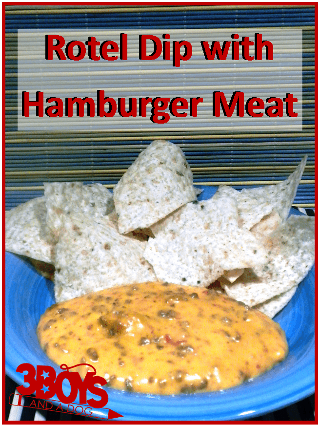 velveeta cheese dip with ground beef and rotel