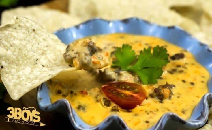Rotel Dip with Ground Beef Recipe | Velveeta, RoTel, Hamburger Meat