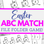fun printable file folder game for kids to practice abc upper and lower case matching