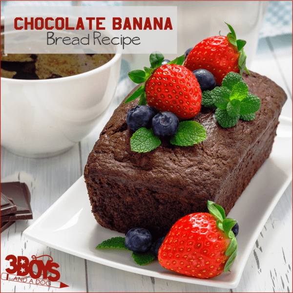 Chocolate and Banana Loaf Cake Recipe
