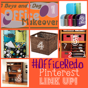 Pinterest blog hop link party #OfficeRedo