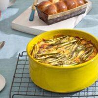 Asparagus and Potato Egg Bake