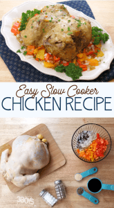 whole fryer chicken recipe in the slow cooker