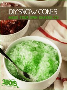 DIY SNOW CONES make your own shaved ice recipe