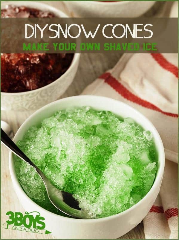 How to make your own snow cones simple syrup recipe